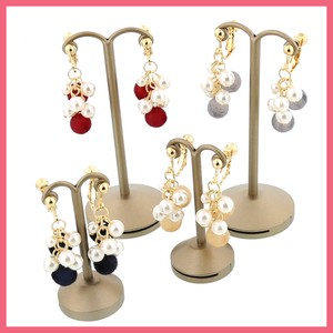 Pearl Flocky Ball Earring
