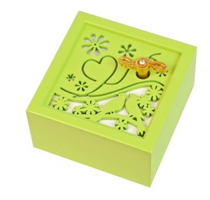 Wooden Music Box Small Birds Wooden Melody