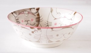 Heavy Use Preference Donburi Bowl Ramen Donburi Bowl Mino Ware Plates & Utensil Cat