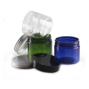 Green Glass Cream Food Container
