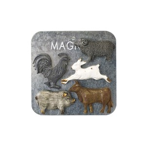 Animal Magnet 5 Pcs Set Antique