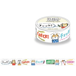 Washi Tape Die Cut GOROGORO NYANSUKE Checkered