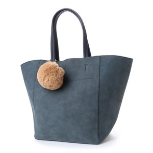 Fake Suede Bonbon Attached Tote Bag