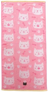 Pastel Jacquard Bathing Towel Pink