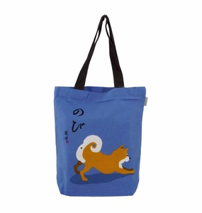 A4 Tote Bag Inside Pocket Attached Shibatasan Blue