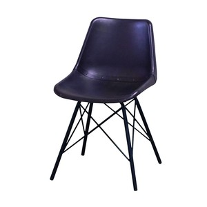 Cow Leather Use Stool Chair