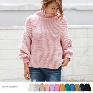 2017 A/W Candy Mall Bottle Neck Pullover Knitted Top