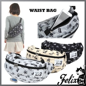 Felix Cat Repeating Pattern Waist Bag Waist Pouch