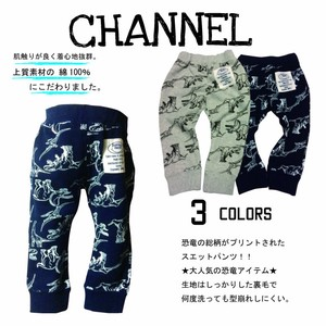2017 A/W Pants Dinosaur Repeating Pattern