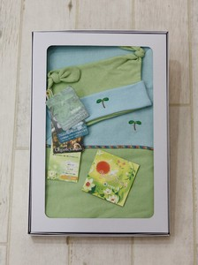 Reversible Blanket & Gauze Hat Box Set【organic cotton 100%】