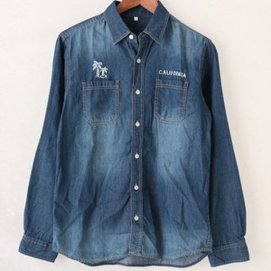 2018 S/S Denim Embroidery Long Sleeve Shirt