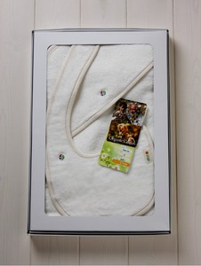 Toweling Baby Wrap & Bib Box Set【organic cotton 100%】
