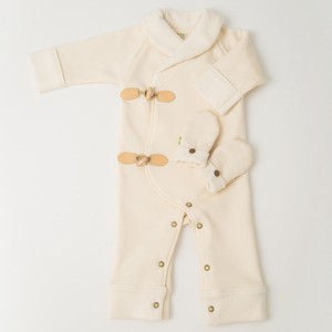 Duffle Romper Jacket & Warm Mitten Box Set【organic cotton 100%】