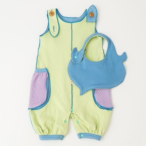 Balloon Dungarees & Leaf Bib Box Set【organic cotton 100%】
