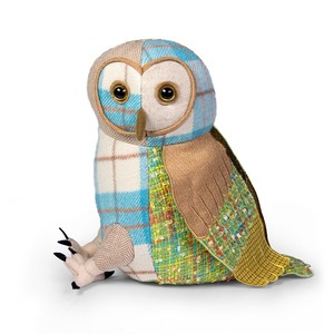 Owl Patchwork Animal Stopper