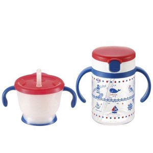 Richell Aqulea Straw Mug Set Navy Blue