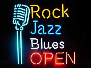 ネオンサイン【ROCK JAZZ BLUES OPEN】