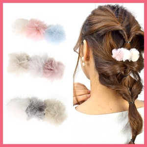 Triple Fur Bonbon Barrette