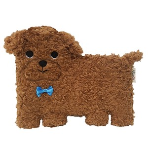 Flat Puppy Pouch・ Toy Poodle  / A plush zipper-top Toy Poodle-shaped pouch