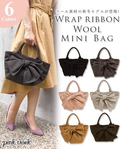 Wrap Ribbon Wool Tote