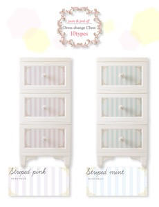 10 Types 3 Steps Dress Chest Storage Cat Rose