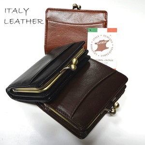 Italy Leather Coin Purse Short Wallet