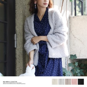 2017 A/W Poodle Fur Cardigan Light Outerwear Non-colored
