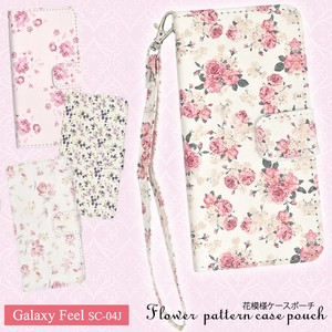 Smartphone Case Flower Pattern Case Pouch