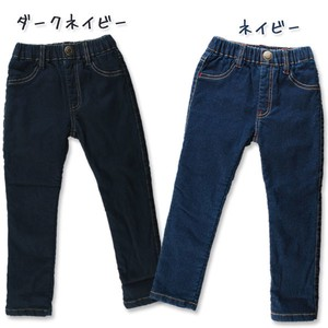 2017 A/W Toddler Stretch Denim Velour Skinny Pants