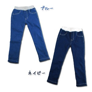 2017 A/W Toddler Stretch Denim Velour Pants