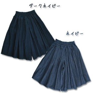 2017 A/W Toddler Denim Gaucho Pants Like a Skirt