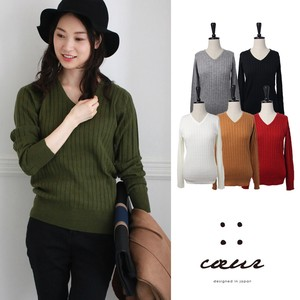 A/W V-neck Knitted Pullover