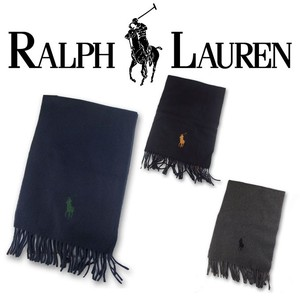 RALPH LAUREN BIG PONY EMBRODIERED SCARF  16056 防寒!