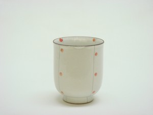 HASAMI Ware Scratching Dot Japanese Tea Cup