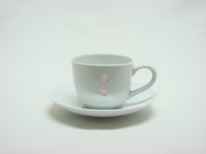 HASAMI Ware Drop Marble Demitas Coffee Plate Pink