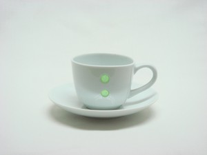 HASAMI Ware Drop Marble Demitas Coffee Plate Green