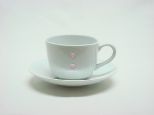 HASAMI Ware Drop Marble Coffee Plate Pink