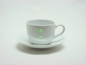 HASAMI Ware Drop Marble Coffee Plate Green