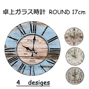 PEARL KINZOKU Table-top Glass Clock/Watch Table Clock Wall Clock Unisex ROUND