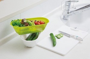 """Oval Series"" Colander & Bowl (Green)"