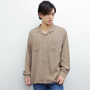 2017 A/W Rayon Long Sleeve Open Color Shirt