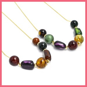 Dark Color Mix Beads Necklace