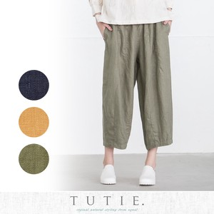 Linen Dyeing Front Darts Pants