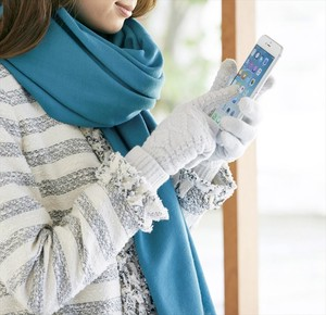 Cable Knitted Smartphone Glove Glove Knitted Smartphone Glove