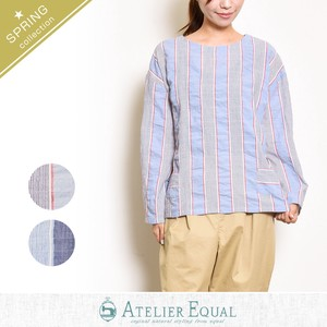 Shearing Stripe Behind Blouse