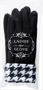 Ladies Glove Glove Knitted Houndstooth Pattern Glove