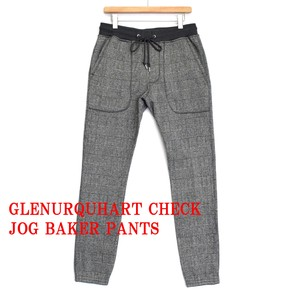 Favorite 2017 A/W Raised Back Knitted Fleece Checkered Baker Pants