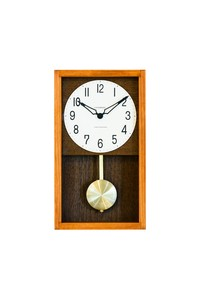 Wall Hanging Product Pendulum Clock/Watch Cafe Brown