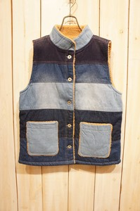 A/W Carry Denim High Neck Vest