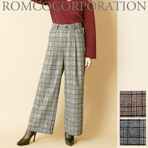 Gigging Checkered wide pants
